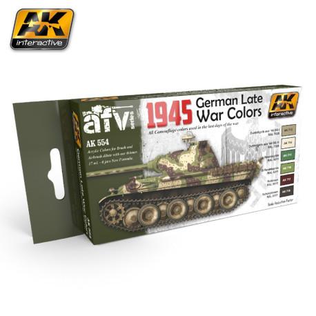 Set colores de Vehículos Alemanes de finales WWII, 1945. Marca AK Interactive. Ref: AK554.