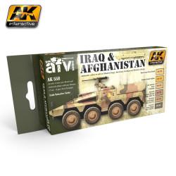 Set colores Iran y Afganistan. Marca AK Interactive. Ref: AK558.