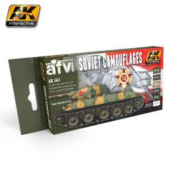 Set colores de Camuflaje Ruso 1935-1945 . Marca AK Interactive. Ref: AK561.