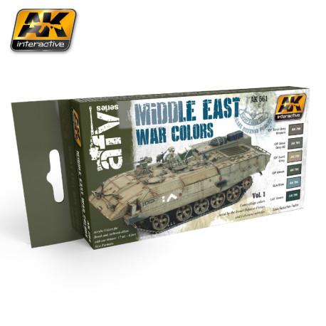 Set colores de la Guerra de Oriente Medio vol.1. Marca AK Interactive. Ref: AK564.