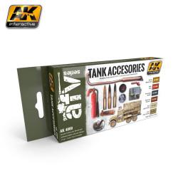 Set de colores  para accesorios de tanques. Marca AK Interactive. Ref: AK4000.