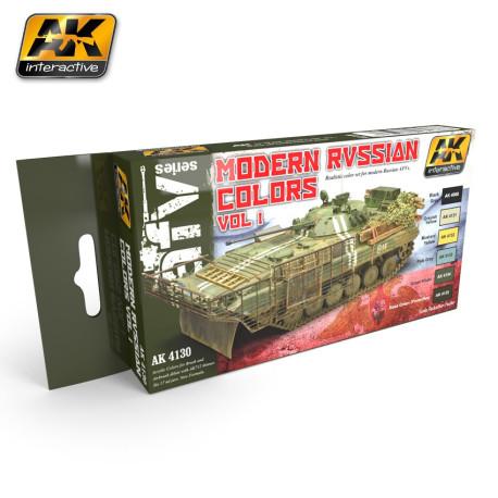 Set de colores Rusia Moderno Vol.1. Marca AK Interactive. Ref: AK4130.
