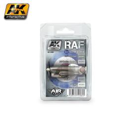 Set colores para aviones camuflados en el Combate Proyecto Día, RAF. Marca AK Interactive. Ref: AK2080.