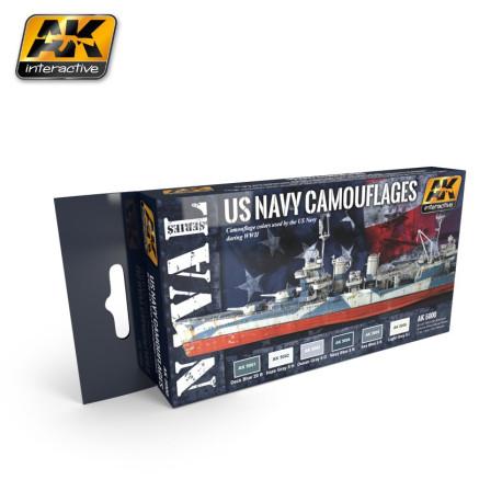 Set  colores de camuflaje para Barco USA, WWII. Marca AK Interactive. Ref: AK5000.