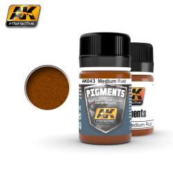 Ak Pigmento Moho medio( medium rust ). Marca AK Interactive. Referencia: AK043.