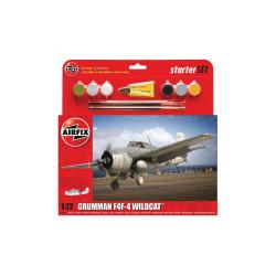 Set Caza Grumman F4F-4 Wildcat. Escala 1:72. Marca Airfix. Ref: A55214.