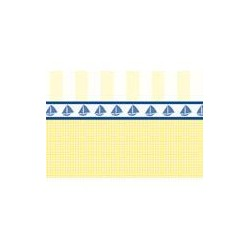 Papel rayas y cuadrados amarillos. Marca Artesania Latina. Ref: 06244.