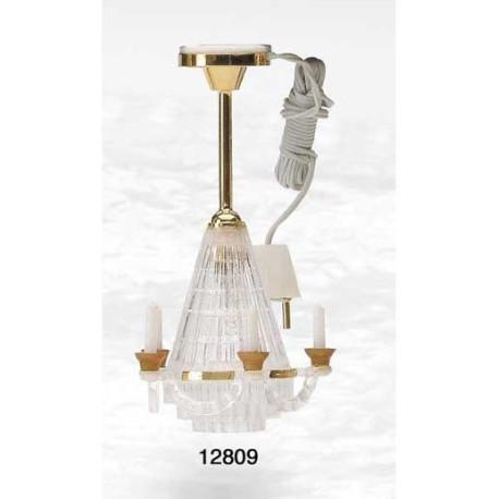Lámpara techo con velas B/C. Marca Artesanía Latina. Ref: 12809.