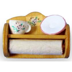 Estante de cocina con porta rollos. Marca Artesanía Latina. Ref: 13306.