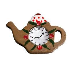 Reloj con forma de tetera. Marca Artesanía Latina. Ref: 13355.
