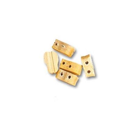 Moton violín 2 orificios de Boj, diámetro 7 mm  ( 6 uds. ).  Marca Artesanía Latina. Ref: 8533.