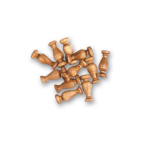 Columna de nogal, diámetro 8 mm  ( 18 uds. ).  Marca Artesanía Latina. Ref: 8541.