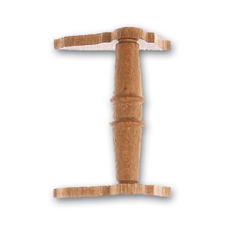 Cabestrante horizontal en nogal de 30 mm.  Marca Artesanía Latina. Ref: 8575.