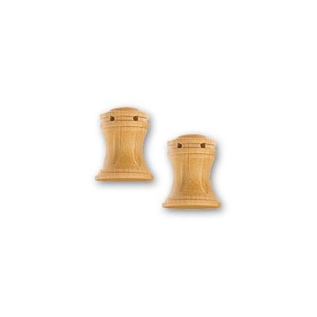 Cabestrante vertical fresado en boj de 10 mm,  2 uds.  Marca Artesanía Latina. Ref: 8578.