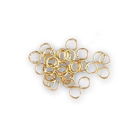 Anillas de latón diámetro 2 mm, ( 150 uds ). Marca Artesanía Latina. Ref: 8615.