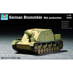 German Sturmpanzer IV Brummbar (Mid. Prod) - Sdkfz.166. Escala 1:72. Marca Trumpeter. Ref: 07211.