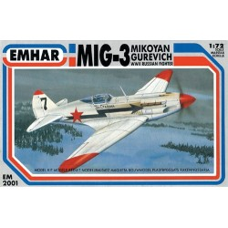MiG-3 WWII Russian Fighter. Escala 1:72. Marca Emhar. Ref: EM2001.
