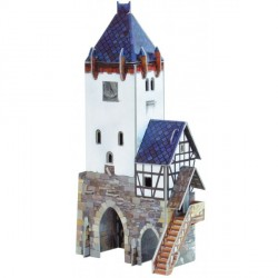 Atalaya. Puzzle 3D de Montaje. Serie Medieval. Marca Clever Paper. Ref: 14201.