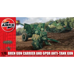 Set Arma Bren Carrier  y 6pdr arma antitanque. Escala 1:76. Marca Airfix. Ref: A01309.