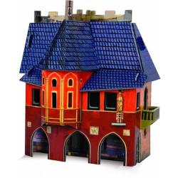 Ayuntamiento. Puzzle 3D de Montaje. Serie Medieval. Marca Clever Paper. Ref: 14216.