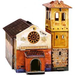 Iglesia. Puzzle 3D de Montaje. Serie Medieval. Marca Clever Paper. Ref: 14218.