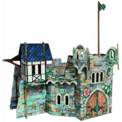 Torre redonda. Puzzle 3D de Montaje. Serie Medieval. Marca Clever Paper. Ref: 14220.