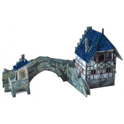 Puente. Puzzle 3D de Montaje. Serie Medieval. Marca Clever Paper. Ref: 14258.