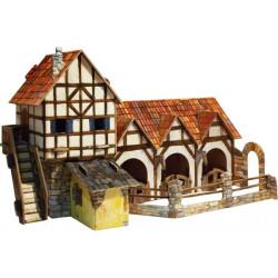 Establo. Puzzle 3D de Montaje. Serie Medieval. Marca Clever Paper. Ref: 14264.