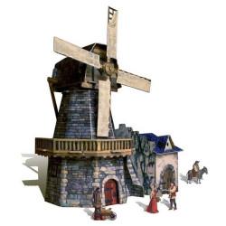 Molino de viento. Puzzle 3D de Montaje. Serie Medieval. Marca Clever Paper. Ref: 14273.