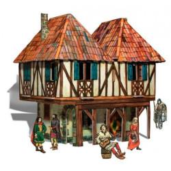 Casa Señorial. Puzzle 3D de Montaje. Serie Medieval. Marca Clever Paper. Ref: 14282.