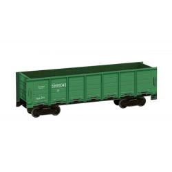 Vagón tipo XX, Color verde, Para decoración, Puzzle de Cartón para montar, Escala H0, Marca Clever Paper, Ref: 142761.