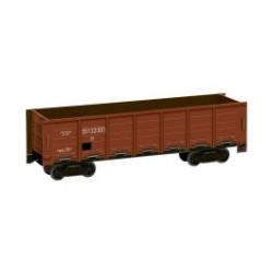 Vagón tipo XX, Color marrón, Para decoración, Puzzle de Cartón para montar, Escala H0, Marca Clever Paper, Ref: 142762.