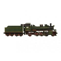 Locomotora de vapor, Para decoración, Puzzle de Cartón para montar, Escala H0, Marca Clever Paper, Ref: 14308.