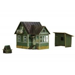 Casa Campo. Puzzle 3D de Montaje. Serie de construcciones populares. Marca Clever Paper. Ref: 14300.