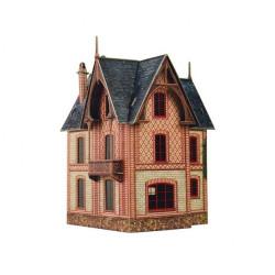 Villa Vesinet. Puzzle 3D de Montaje. Serie de construcciones populares. Marca Clever Paper. Ref: 14313.