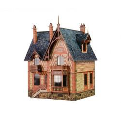 Villa Chateau. Puzzle 3D de Montaje. Serie de construcciones populares. Marca Clever Paper. Ref: 14314.