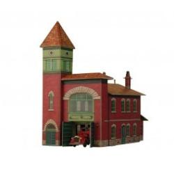 Parque de bomberos. Puzzle 3D de Montaje. Serie de construcciones populares. Marca Clever Paper. Ref: 14319.