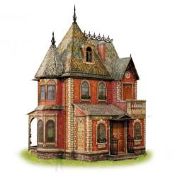 Casa de muñecas Victoirana. Puzzle 3D de Montaje. Serie de casas de muñecas. Marca Clever Paper. Ref: 14283.