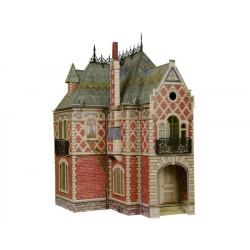 Casa de muñecas victoriana II. Puzzle 3D de Montaje. Serie de casas de muñecas. Marca Clever Paper. Ref: 14329.