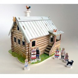 Casa de muñecas I ( chalet ruso ). Puzzle 3D de Montaje. Serie de casas de muñecas. Marca Clever Paper. Ref: 142061.