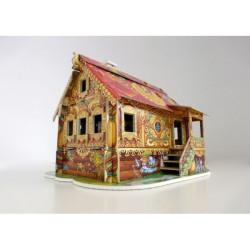 Casa de muñecas II ( chalet rojo ). Puzzle 3D de Montaje. Serie de casas de muñecas. Marca Clever Paper. Ref: 142062.