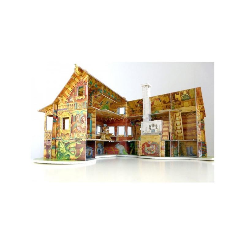 Casa de mu ecas ii chalet rojo puzzle 3d de montaje - Casa munecas eurekakids ...