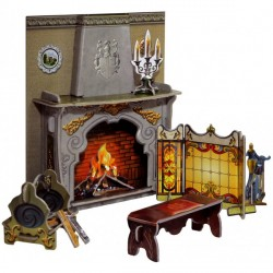 Chimenea. Puzzle 3D de Montaje. Serie de casas de muñecas. Marca Clever Paper. Ref: 14260.