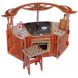Cocina. Puzzle 3D de Montaje. Serie de casas de muñecas. Marca Clever Paper. Ref: 14270.