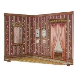 Habitación. Puzzle 3D de Montaje. Construcción de casas de muñecas, seire Rumboksy. Marca Clever Paper. Ref: 142911.