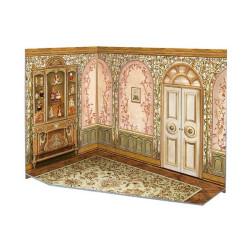 Sala de juegos. Puzzle 3D de Montaje. Construcción de casas de muñecas, seire Rumboksy. Marca Clever Paper. Ref: 142912.