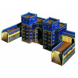 Puerta de Ishtar ( Babilonia ). Puzzle 3D de Montaje. Serie de construcciones populares. Marca Clever Paper. Ref: 14257.