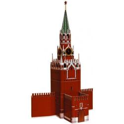 Torre de Spasskaya ( kremlin - Moscú ). Puzzle 3D de Montaje. Serie de edificios históricos. Marca Clever Paper. Ref: 14219.