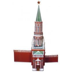Torre de San Nicolás ( kremlin - Moscú ). Puzzle 3D de Montaje. Serie de edificios históricos. Marca Clever Paper. Ref: 14254.