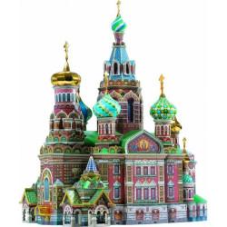 Iglesia del Salvador ( San Petersburgo ). Puzzle 3D de Montaje. Serie de edificios históricos. Marca Clever Paper. Ref: 14110.